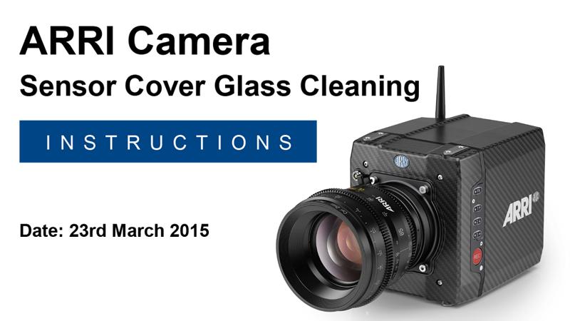 Arri Camera Sensor Cleaning Instructions