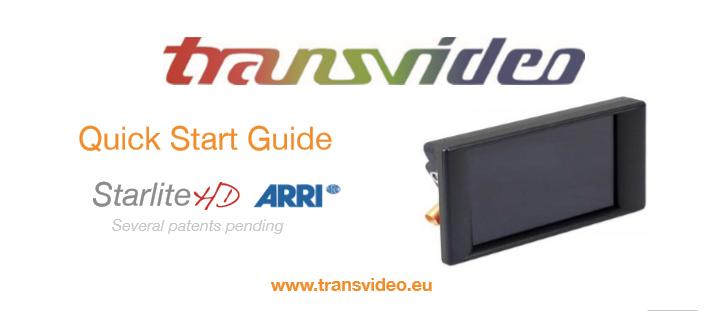 Arri Transvideo 5HD Quickstart Guide